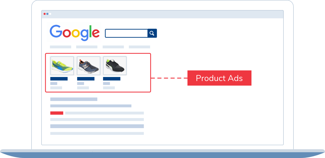 product ads shopping results