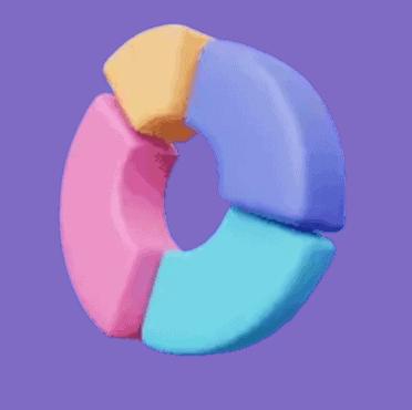 Market share circular graph